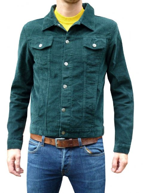 Anderson - Mens Green Corduroy Jacket (Green)